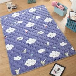 水晶宝宝绒防滑爬爬垫宝宝爬行垫加厚地垫客厅地毯瑜伽垫云朵