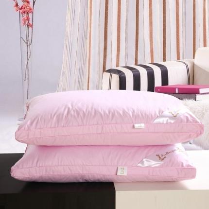 心悦家纺 粉色立体羽绒枕