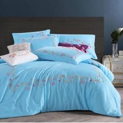 一岚家居 简约时尚最美的相遇系列四件套 最美的相遇蓝