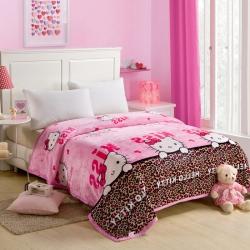 (总)坦客毯业 柔软舒适云貂绒毛毯