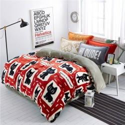 (总)绒品之家 230克法莱绒印花四件套床单款