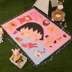 清仓  可爱卡通大版水晶绒加厚儿童婴儿地垫爬行垫