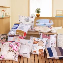 屹宬家纺 优舒绒印花抱枕被靠垫被两用抱枕被子
