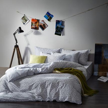 清怡家纺 2016新款全棉黑白多规格四件套床单款 梦回