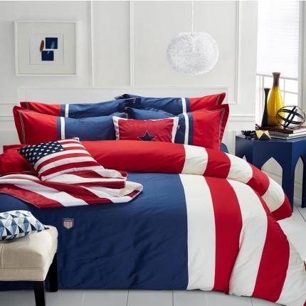 纯优家纺 美式英伦纯棉活性四件套美国往事