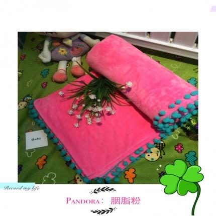 纯优家纺 Pandora潘多拉魔法毯子(单被套)胭脂粉