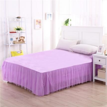 123家纺 单品纯色床裙紫色