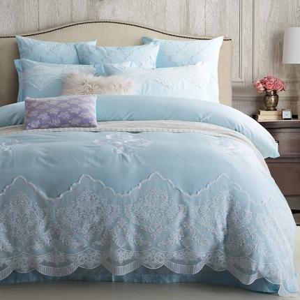 兰博家纺 高端蕾丝刺绣系列长绒棉四件套 Dream梦寐