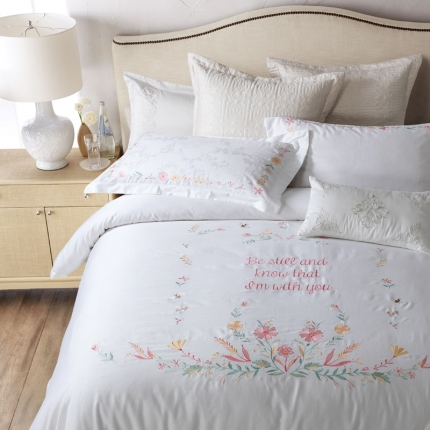 兰博家纺 高端刺绣系列长绒棉四件套 Betsy贝琪