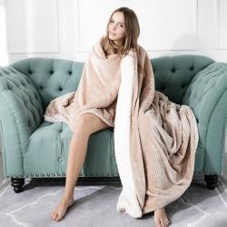 (总)梦巢家纺 温暖舒适贝贝绒毛毯