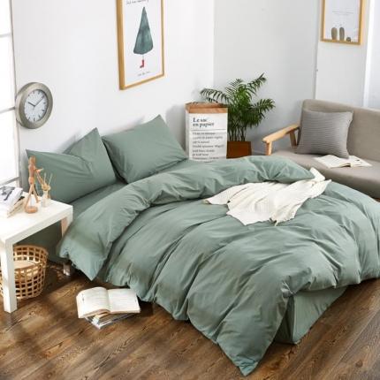 色织生活 色织小提花嵌线四件套床单款60嵌线-绿