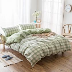 新棉坊 水洗棉四件套床单款提花-绿