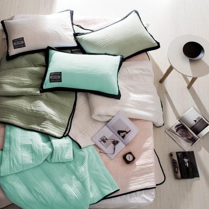 (总)立奥 水洗棉夏凉被空调被绗缝夏被 可配枕套