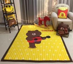 悦活家居 婴儿爬爬垫四季棉质地垫-吉他熊