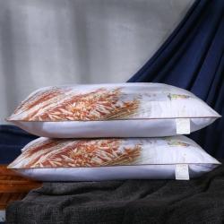 沃兰国际 磨毛印花荞麦薰衣草决明子茉莉花护颈枕芯安睡枕头