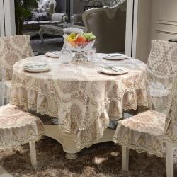 欧式桌布椅子套田园餐桌布椅套椅垫套装布艺茶几布长方形简约现代