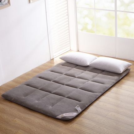 法兰绒榻榻米床垫 超柔绗缝法莱绒珊瑚绒床褥子 海绵床垫
