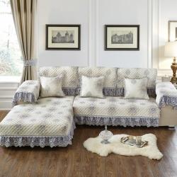 美优兰17年新款色织亚麻提花沙发垫飘窗垫