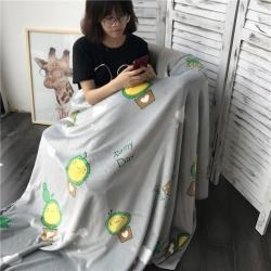 (总)法芙娜家纺 2017秋冬新款双层圆网童毯加厚双层毛毯