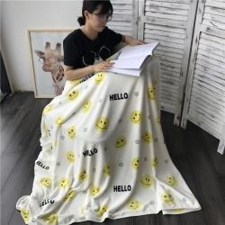 法芙娜家纺 2017秋冬新款 双层圆网童毯 加厚双层毛毯