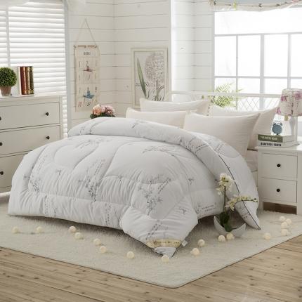 全棉暖冬被     十里挑花--白色