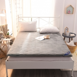 总米帛床垫新款加厚法兰绒床垫可折叠榻榻米垫,学生宿舍床褥