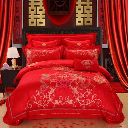 浩情国际 爆款婚庆四件套六件套九件套多件套普通版龙凤和美
