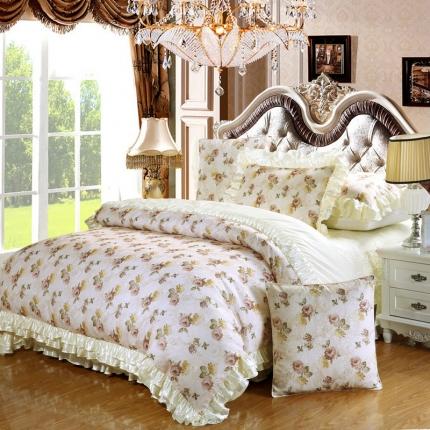 小时代家纺欧式婚庆件床盖四件套