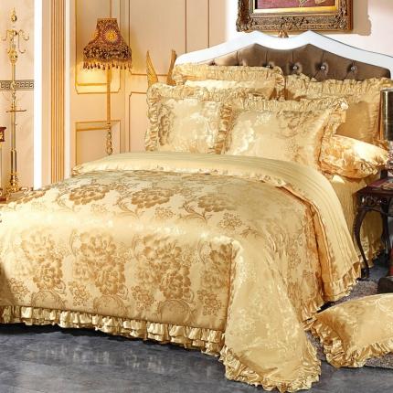小时代家纺韩版床盖提花四件套