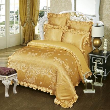 小时代家纺韩版提花床单床盖四件六件套皇家风范