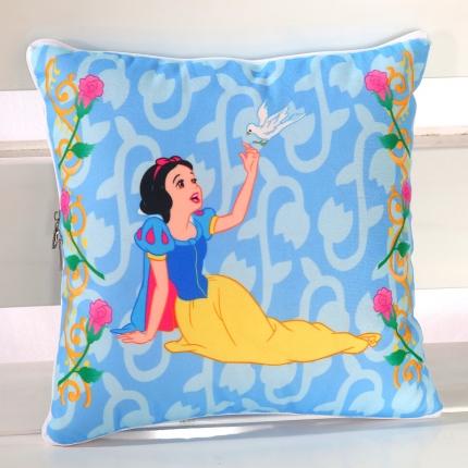 甜家美居 短毛绒数码印花抱枕被 白雪公主