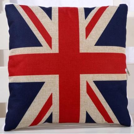 甜家美居 棉麻数码印花抱枕被 米字旗