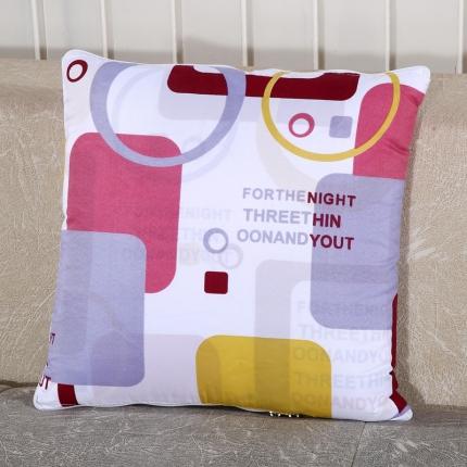 甜家美居 升级版四季通用磨毛印花抱枕被 幻想空间
