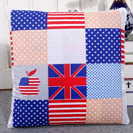 甜家美居 新升级版四季通用磨毛印花抱枕被 美国苹果