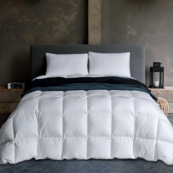 富乐屋家纺 保暖舒适温莎羽绒被纯白