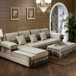 2016春夏新品 雪尼尔3D立体绣花沙发垫欧式沙发巾沙发罩