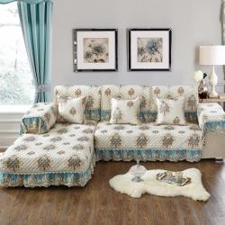 (总)美优兰四季通用布艺沙发垫全盖坐垫欧式简约现代沙发套罩巾