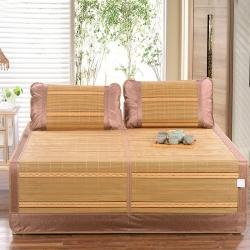 清凉竹席系列三件套1.5/1.8米夏季竹凉席(枕套分开)