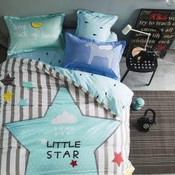 风向标家纺专版北欧简约混搭130*70四件套床单款 小明星