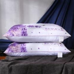 沃兰国际 磨毛印花薰衣草茉莉花决明子荞麦护颈枕芯安睡枕头
