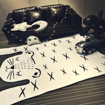 卜古家 可爱老虎造型地垫北欧Ins造型地垫超实用地垫/床垫