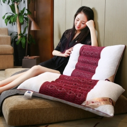 沃兰国际针织棉透气护颈按摩枕芯安睡助眠枕头(两色)