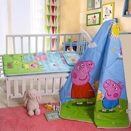 新品独家发布 全棉婴幼童三件套 小猪佩奇 两用垫