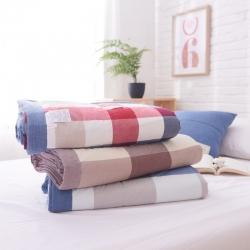 (总)一家人家纺全棉色织水洗棉夏被新疆棉花夏被空调被