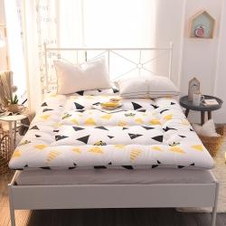 米帛床垫超厚磨毛印花床垫可折叠榻榻米垫学生宿舍床褥