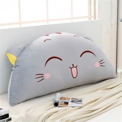 永光家居 印花卡通靠背床头靠垫大靠背床头软包 开心猫-灰