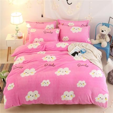 心雅丽家纺 44个法莱绒四件套床单款【所有花色床笠款可定做】