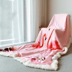 (总)米素家居 羊羔绒毛毯 水晶绒羊羔绒毯 高克重毯子首选!