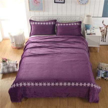 简约-高贵紫  36个法莱绒毛毯【有同款被套法莱绒四件套】