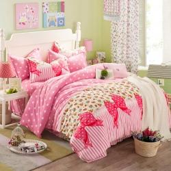 (总)丽格纷家纺 印花法莱绒四件套床单款